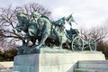 Cavalry group monument in front of us capitol Royalty Free Stock Image
