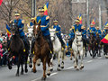 Cavalry on military parade in bucharest romania national day st of december Stock Images