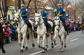 Cavalry on military parade in bucharest romania national day st of december Royalty Free Stock Photo