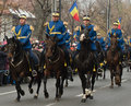 Cavalry on military parade in bucharest romania national day st of december Royalty Free Stock Image
