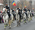 Cavalry on military parade in bucharest romania national day st of december Stock Photo