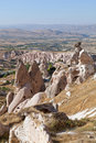 Cave city Uchisar in Cappadocia, Turkey Royalty Free Stock Images