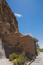 Cave Cliff Dwelling in Bandalier National Monument New Mexico Royalty Free Stock Photo