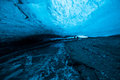 Cave creatures inside an ice in vatnajokull glacier in iceland Stock Images