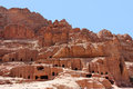 Cave dwellings in the ancient city of petra jordan Royalty Free Stock Photography