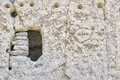 Cave dwellings in bandelier ancient national monument nm fearuring pteroglyphs on the walls Stock Photo
