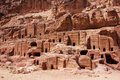 Cave dwellings jordan in the ancient city of petra Royalty Free Stock Images