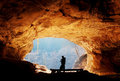 At the cave entrance Royalty Free Stock Photo