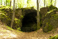 Cave on the Hiking Trail Eifelsteig Royalty Free Stock Photo