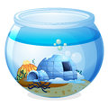 A cave inside the aquarium illustration of on white background Royalty Free Stock Photography