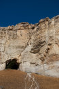 Cave in the old rock white crimea ukraine Royalty Free Stock Images