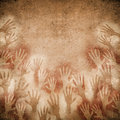 Cave painting with hands Royalty Free Stock Photography