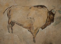 Cave painting a reconstruction of a Stock Image