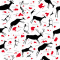 Cave painting. Seamless vector wallpaper Royalty Free Stock Photos
