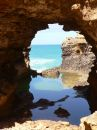Cave Reflections Stock Photography