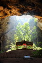 Cave with shrine in the nationalpark khao sam roi yot is the natural phraya nakhon the picture shows the in the the trees Royalty Free Stock Photography