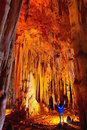 Cave stalactites and formations Royalty Free Stock Images