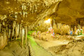 Cave stalactites at the southern of thailand Royalty Free Stock Photo