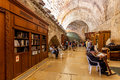 Cave synagogue in jerusalem israel august prayers and visitors inside of which is a part of western wall aka wailing wall judaism Stock Image