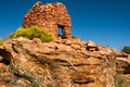 Cave tower ruin one of several anasazi ruins on a promontory in mule canyon on cedar mesa Royalty Free Stock Photo