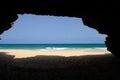 Cave In Varandinha Beach In Boa Vista, Cape Verde
