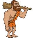 Caveman with club Royalty Free Stock Photo