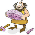 Caveman Invents the wheel Royalty Free Stock Images