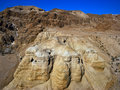 The caves of Qumran Royalty Free Stock Images