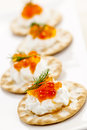 Caviar appetizers Royalty Free Stock Images