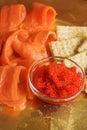 Caviar and smoked salmon Royalty Free Stock Photo