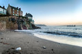 Cawsand beach the at on the south coast of cornwall Royalty Free Stock Image