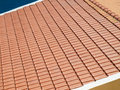 Cay tiled roof newly laid clay Royalty Free Stock Photography