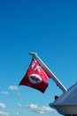 Cayman Islands red nautical flag Royalty Free Stock Images