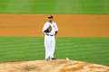 Cc sabathia getting ready to pitch yankees baseball player in pinstripe uniform number Royalty Free Stock Images