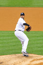 Cc sabathia yankees pitcher baseball player in pinstripe uniform number Stock Image