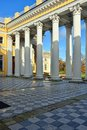 Ccolonnade of alexander palace in pushkin russia Stock Images