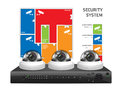 CCTV camera and DVR - digital video recorder - security system