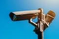 CCTV camera, modern era anti-terrorist electronic surveillance Royalty Free Stock Photo