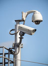 CCTV camera security in a city