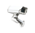 Cctv camera security isolated white background Stock Image