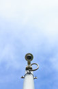 Cctv camera on sky with clouds Royalty Free Stock Photo