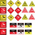 Cctv camera surveillance signs Stock Images