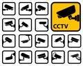 CCTV cameras icons