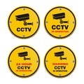 Cctv circle sign suitable for warning signs Royalty Free Stock Photo