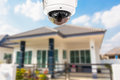 CCTV Home camera security operating at house. Royalty Free Stock Photo