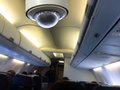 CCTV inside airplane Royalty Free Stock Photo
