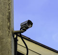 Cctv on the roof mini Royalty Free Stock Photos