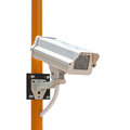 Cctv security camera with installation isoloated on white background Stock Image