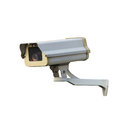Cctv or security camera isolated over white background Royalty Free Stock Images