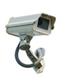 Cctv security camera on white background Stock Photos